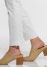 White Eyelet Hem Skinny Jeans alt view