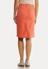 Coral Denim Skirt alternate view