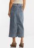 Plus Size Vintage Denim Midi Skirt alternate view