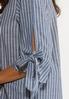 Plus Size Stripe Tie Sleeve Shirt alt view