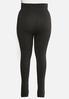 Plus Size Charcoal Fleece Leggings alternate view
