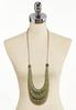 Olive Wooden Cord Necklace alternate view