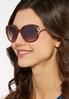 Leopard Trim Square Sunglasses alternate view