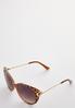 Leopard Trim Square Sunglasses alt view