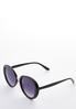 Classic Black Round Sunglasses alt view