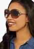 Lucite Vented Round Sunglasses alternate view