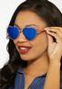 Gold Heart Aviator Sunglasses alternate view