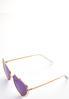 Gold Heart Aviator Sunglasses alt view