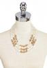 Ivory And Gold Pearl Bib Necklace alternate view