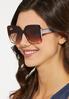Ombre Lucite Square Sunglasses alternate view
