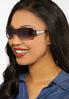 Leopard Arm Shield Sunglasses alternate view