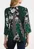 Plus Size Mixed Floral Wrap Top alternate view