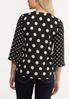 Plus Size Black And White Polka Dot Shirt alternate view