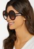 Oversized Round Tortoise Sunglasses alternate view