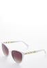 Chain Arm White Sunglasses alt view