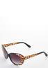Leopard Oval Sunglasses alt view