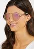 White Aviator Sunglasses alternate view