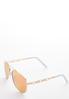 White Aviator Sunglasses alt view