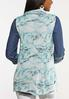 Plus Size Turquoise Marbled Vest alternate view