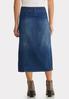 Plus Size Button Front Denim Midi Skirt alternate view