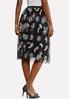 Plus Size Floral Mesh Skirt alternate view