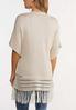 Plus Size Fringed Cardigan Sweater alternate view