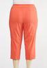 Plus Size Cropped Coral Sailor Pants alternate view