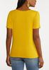 Plus Size Ribbed Twisted Tee alternate view