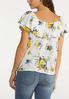 Plus Size Ruffled Gauze Floral Top alternate view