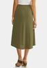 Plus Size Olive Faux Wrap Skirt alternate view