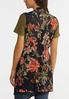 Plus Size Floral Mesh Vest alternate view