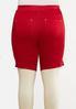 Plus Size Red Curvy Denim Shorts alternate view