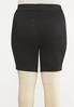 Plus Size Black Denim Shorts alternate view