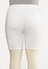 Plus Size White Denim Shorts alternate view