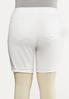 Plus Size White Distressed Shorts alternate view