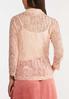 Plus Size Blush Lace Jacket alternate view