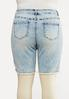 Plus Size Vintage Wash Denim Shorts alternate view
