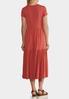 Plus Size Casual Tiered Midi Dress alternate view