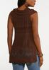 Plus Size Brown Cowl Neck Sweater alternate view