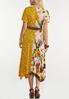 Plus Size Mixed Print Tie Waist Dress alternate view