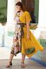 Plus Size Mixed Print Tie Waist Dress alt view