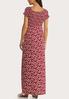 Plus Size Smocked Floral Maxi Dress alternate view