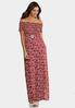 Plus Size Smocked Floral Maxi Dress alt view