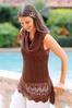Brown Cowl Neck Sweater alt view