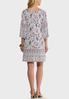 Plus Size Convertible Paisley Dress alternate view