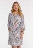 Plus Size Convertible Paisley Dress alt view