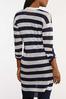 Plus Size Navy Stripe Cardigan Sweater alternate view