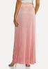 Plus Size Blush Pleated Maxi Skirt alternate view