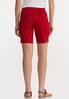 Red Denim Shorts alternate view