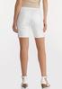 White Classic Denim Shorts alternate view